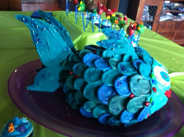 The Big Blue Fish Cake mandywrangles