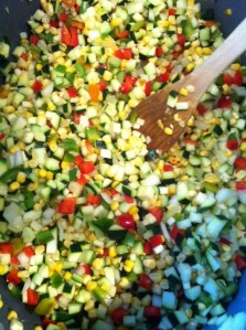 Zucchini. Corn. Capsicum. Onion. That's pretty much it!